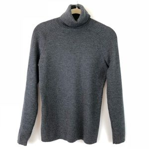 Tory Burch Ribbed Merino Blend Turtleneck Sweater